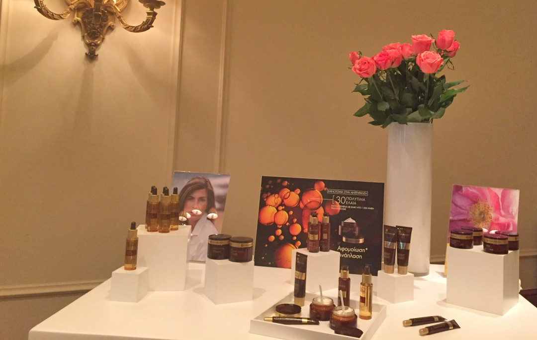 ioanna lampropoulou yves rocher press event